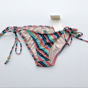 Shoshanna | Metallic Stripe Swim Bikini Bottoms